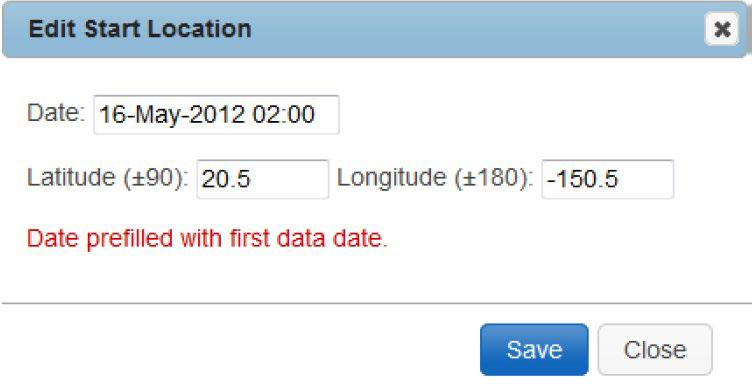 Prefilled Data Date
